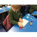 Creating mosaic Christmas cards