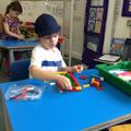 Otto building his aquarium