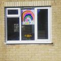 Finley's rainbow message.