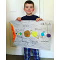 Oliver wanted to do a poster about Space too!