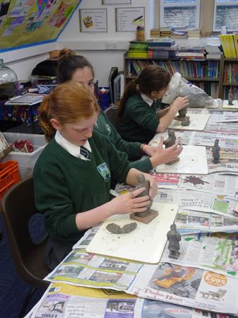 Terracota Army Warriors with our visiting sculptor