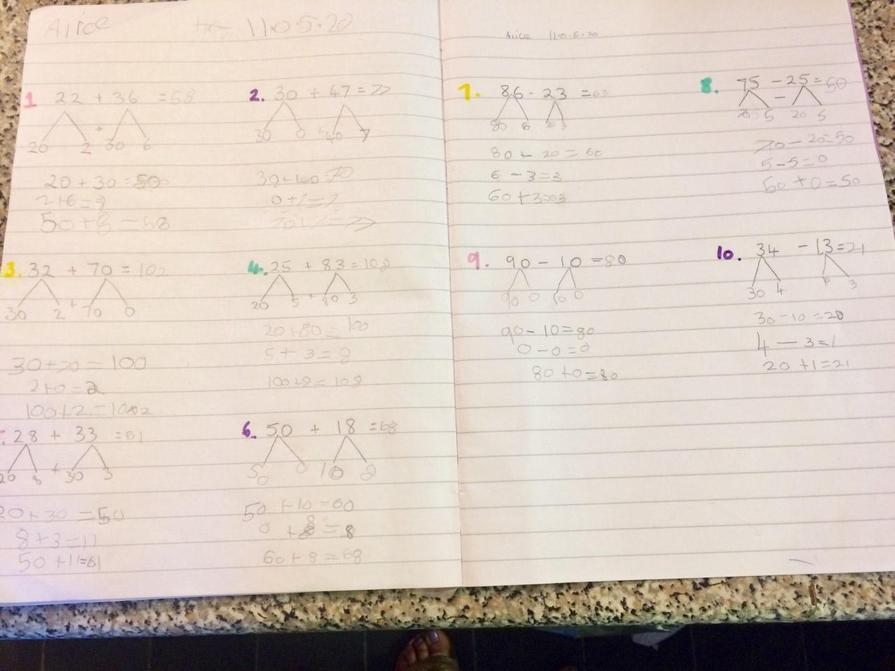 Alice's maths
