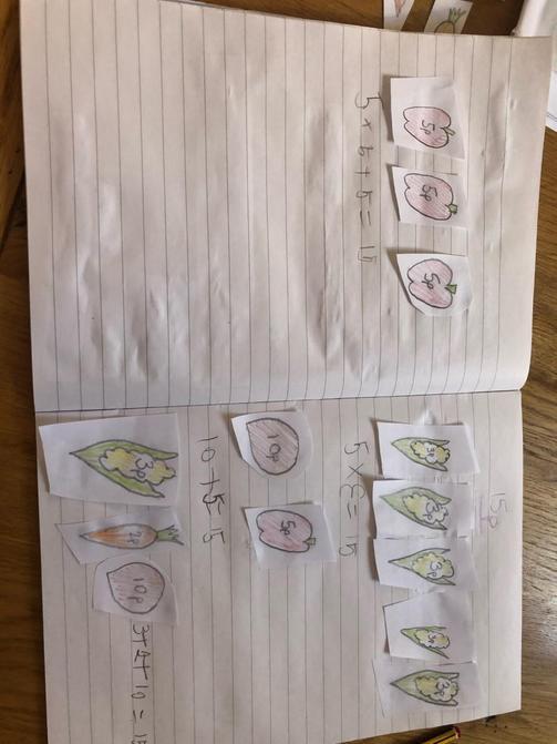 Luke's maths work.