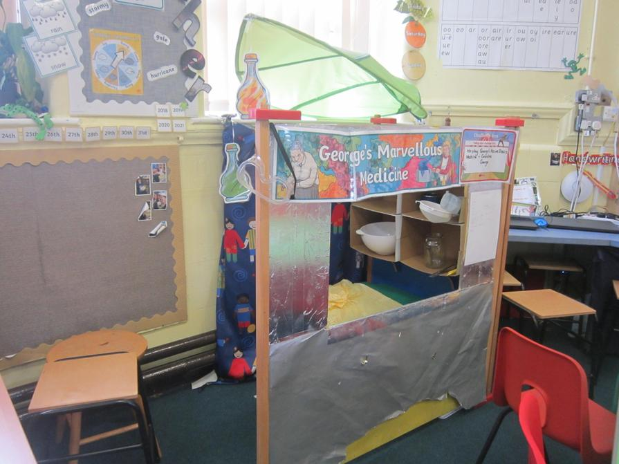 Our first role play area was George's kitchen