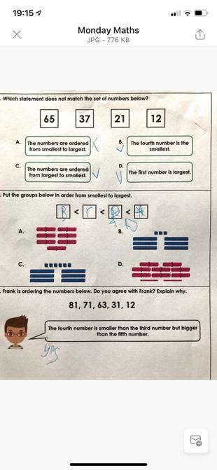 Sam's maths.