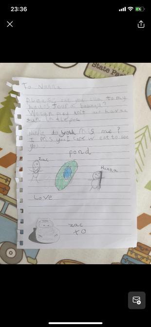 Zac's lovely letter.