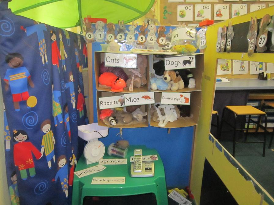 Our new role play area is a Vets