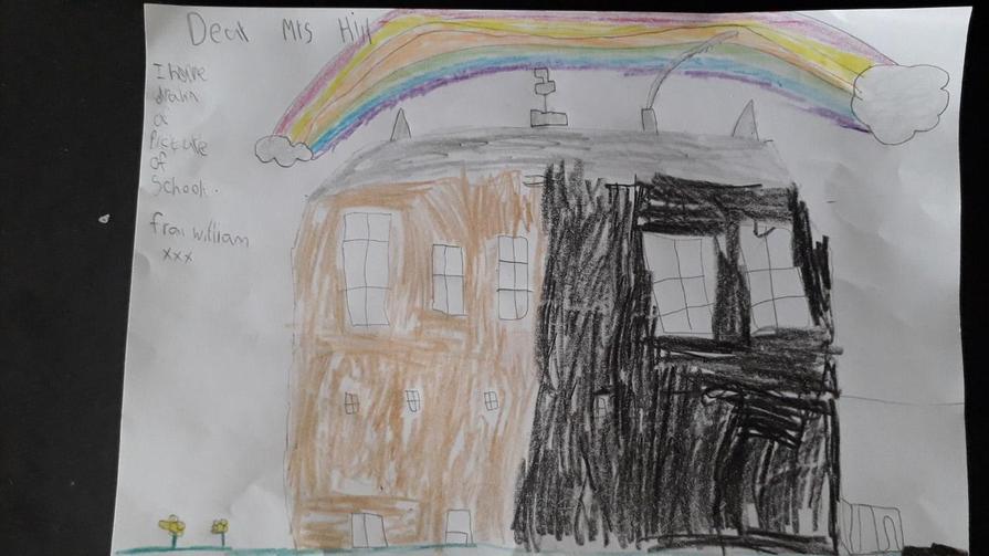 William drew Mrs Hill a picture
