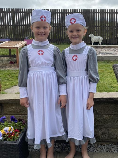 Olivia and Sophia's VE Day celebration