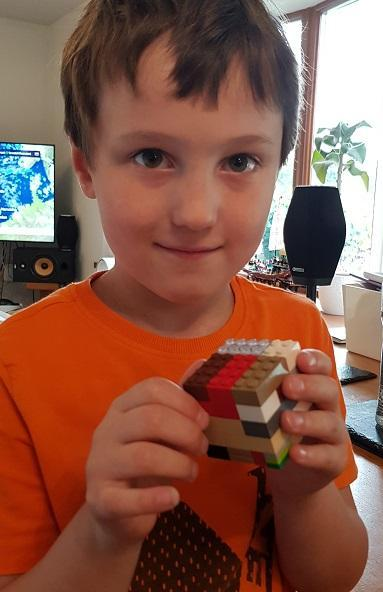 Edward built a cube from lego