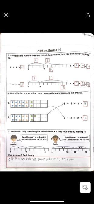 Maths work from Lottie.