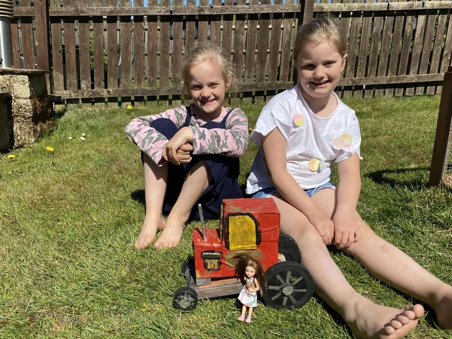 Olivia and Sophia's tractor