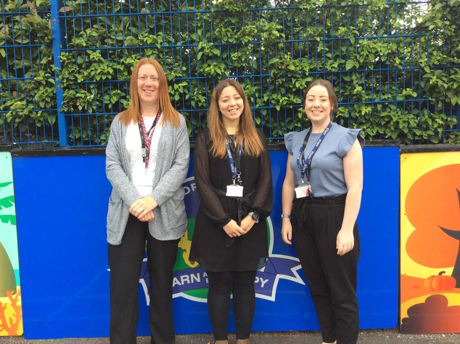Left to Right: Miss Nuttall, Mrs Baron and Miss Birkett