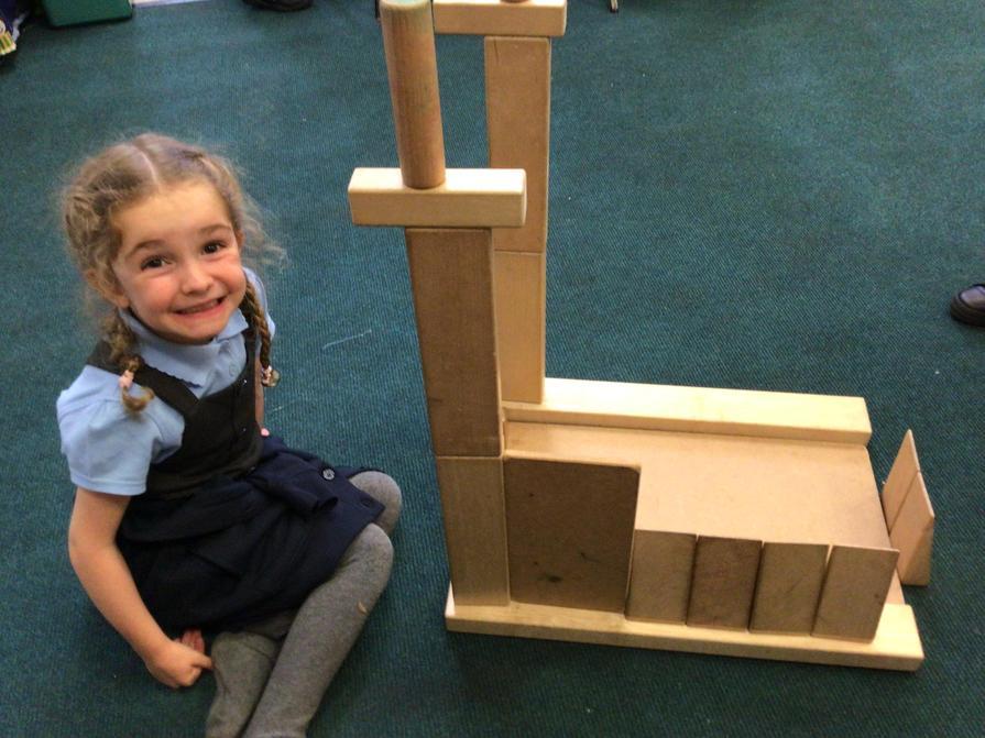 Model making with blocks.