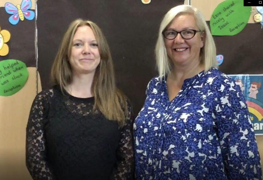 From left to right: Mrs Ewens and Mrs Rothwell