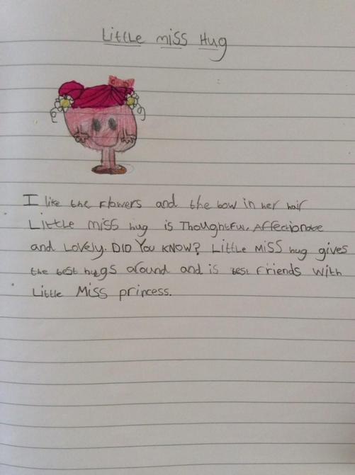 Harriet loves Little Miss Hug!