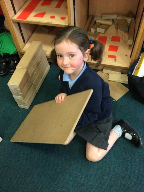 Making models using blocks.