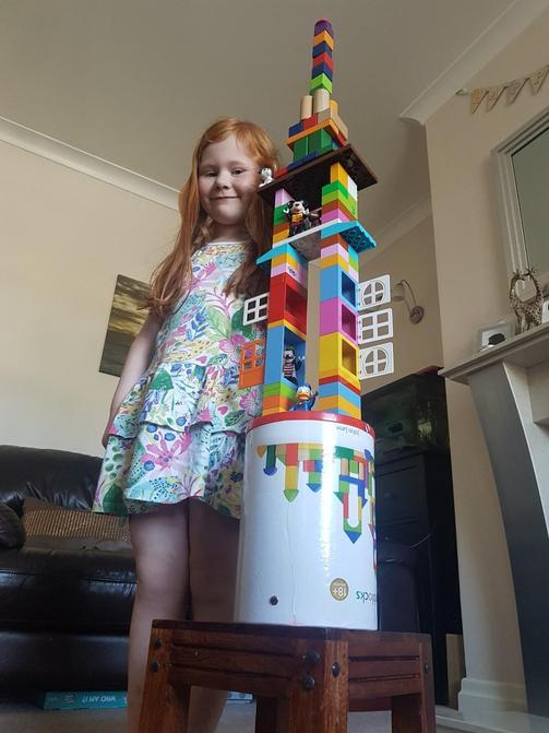 Aimee's tower is soooo tall!