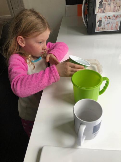 Lottie completing her capacity challenge.