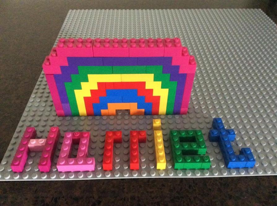 Amazing Lego rainbow!