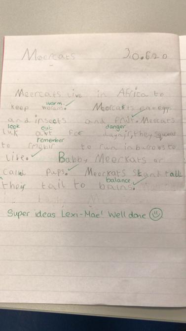 Well done Lexi mae.