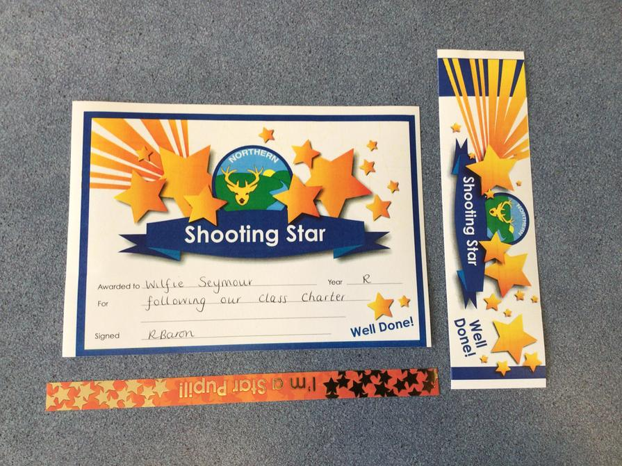 Well done to our Shooting Star this week 15/10/21