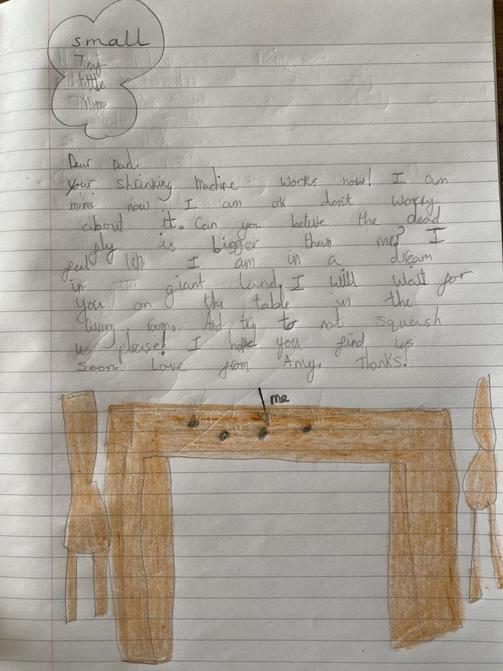 Sophia's literacy letter