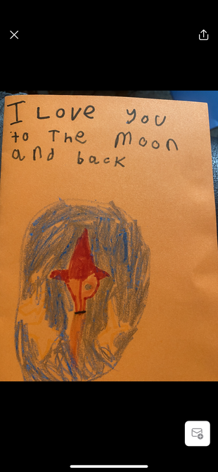 Rio's Father's Day card.