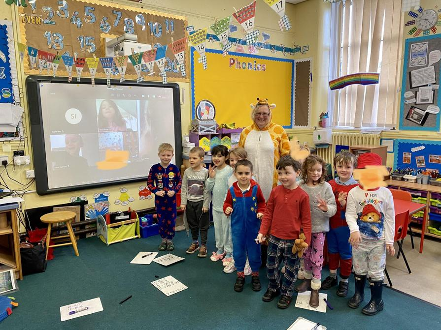 We had a visit from 'The Giraffe That Can't Dance!'