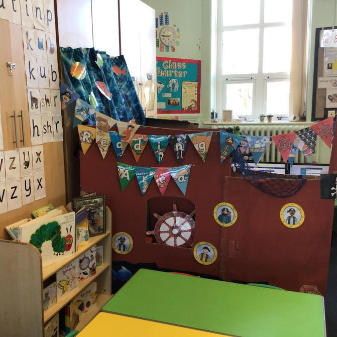 Ahoy there reception Class!  Jump on board our reading ship.