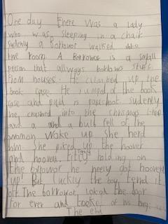 Toby's literacy.....beautiful handwriting!