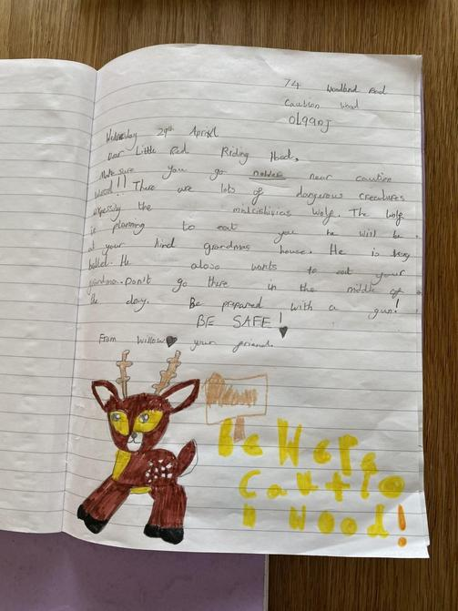Sophia's literacy work