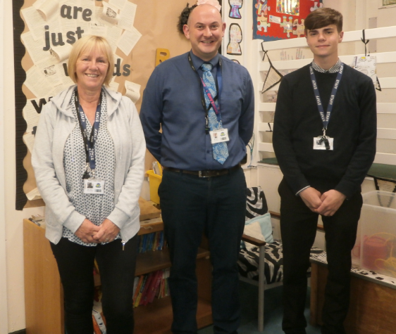 From left to right: Mrs Breen, Mr Syers and Mr Hindle