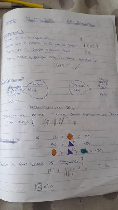 William's maths work