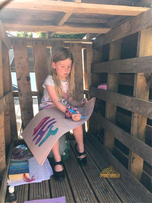 Lottie has found a great workspace!
