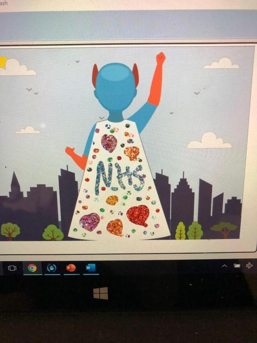 Lottie's amazing NHS cape!