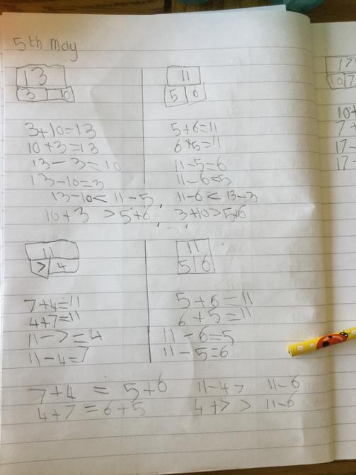 Jack's maths work
