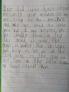 Toby's Literacy letter
