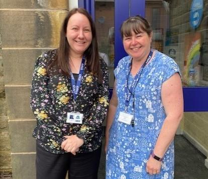 From left to right: Mrs Nicholas (Bursar) and Mrs Gregory (SBSO)