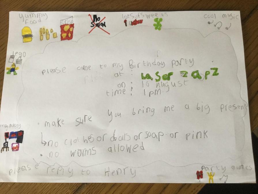 Jack's literacy