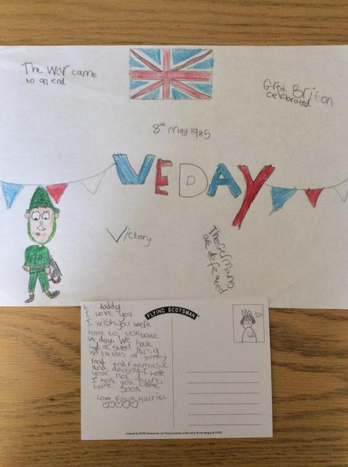 Well done Harriet - first piece of VE Day work!