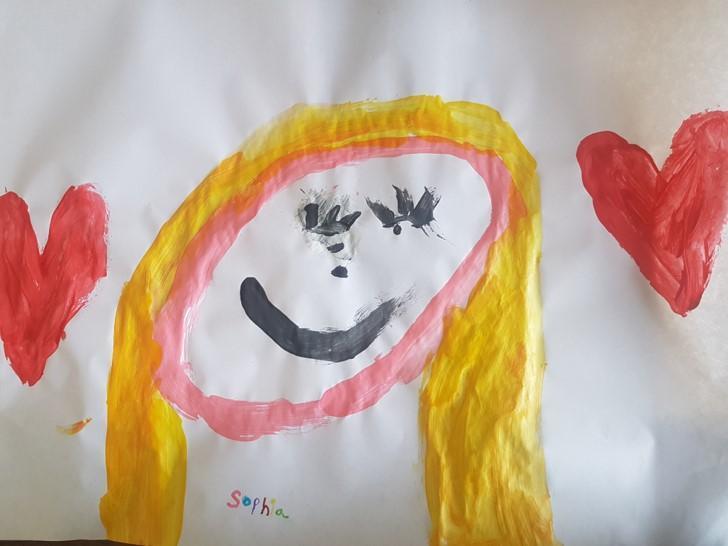 Aimee painted Sophia!