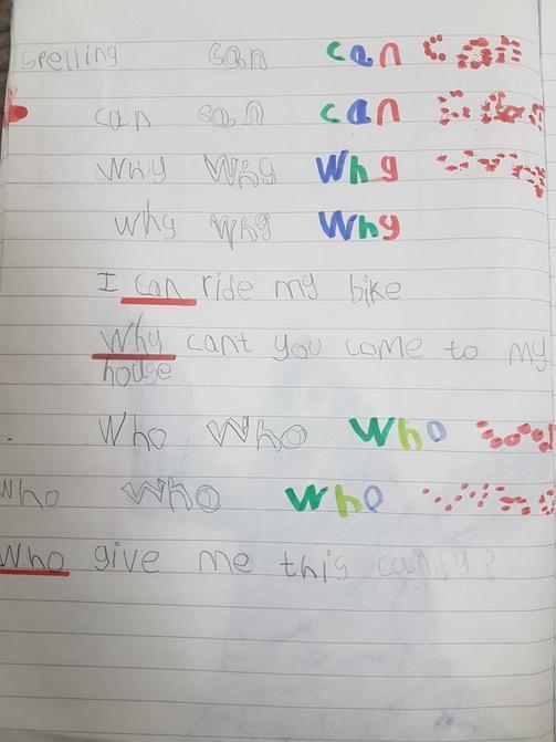 Great spelling work Brody!