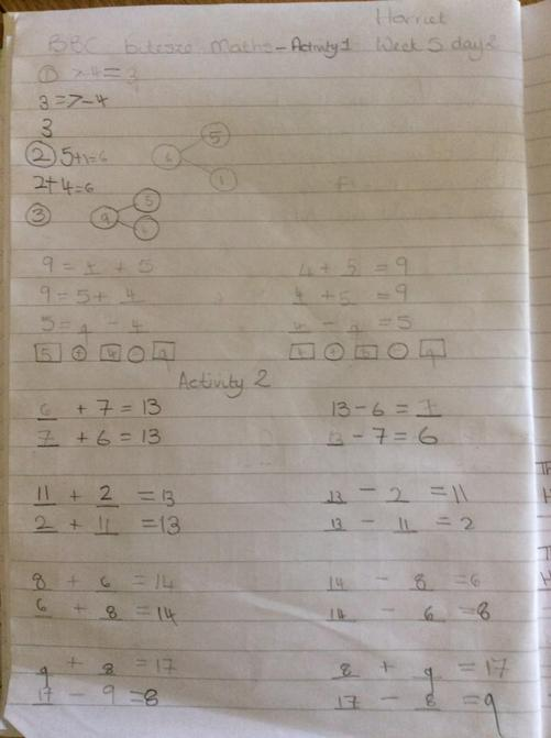 Harriet's maths