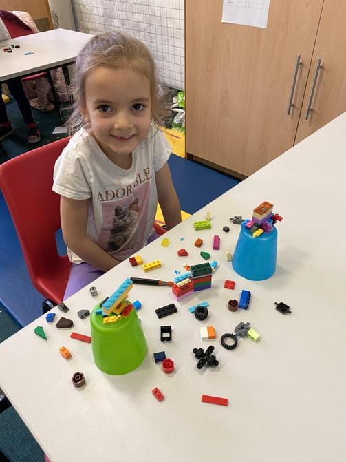 Lexi Mae's Lego creation.