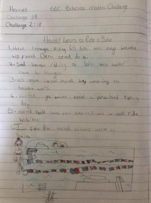 Harriet's great writing about Harold's story!