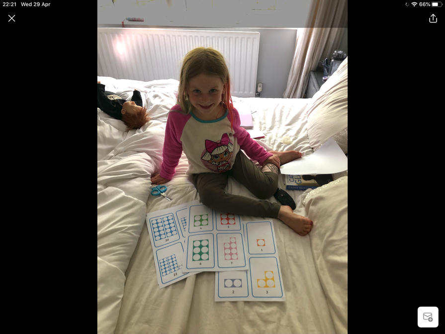 Lottie's numicon learning.