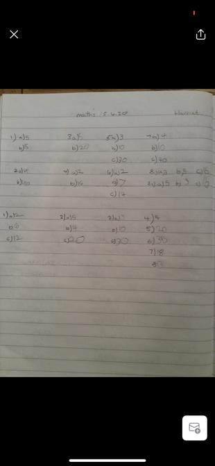 Harriet's great maths.