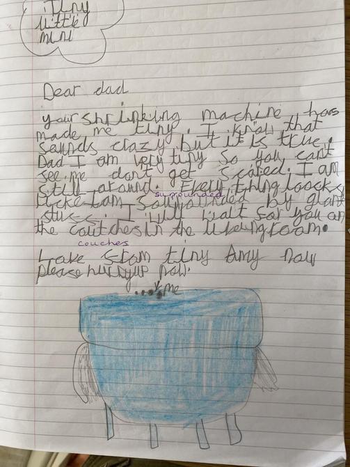 Olivia's literacy letter