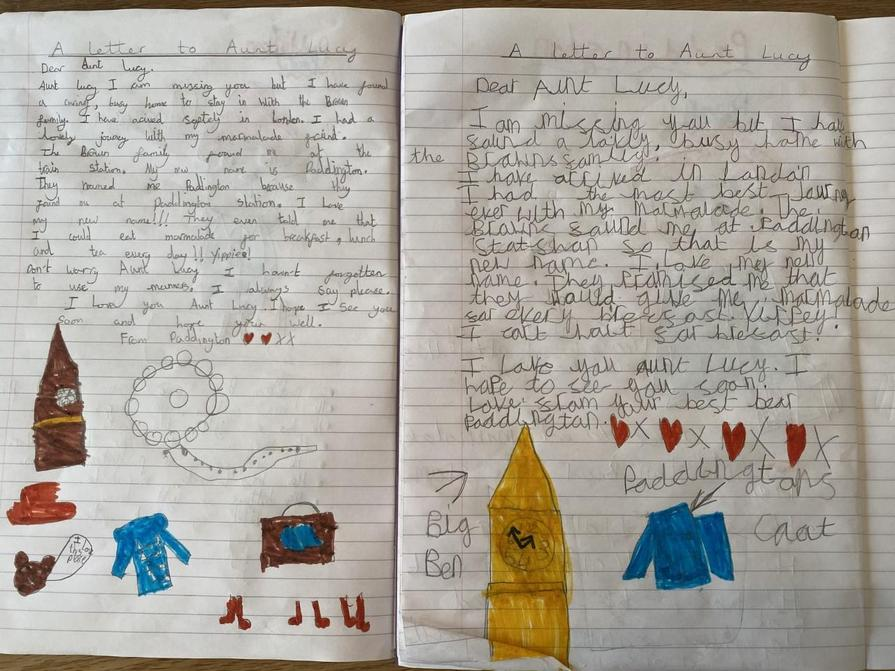 Olivia and Sophia's letters to Aunt Lucy